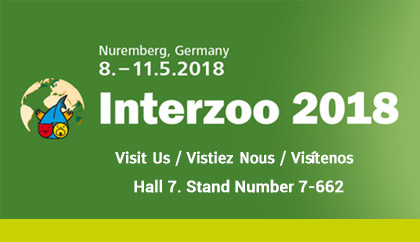 Visit us at Interzoo 2018, Nuremburg, Germany, Hall 7 Booth 7-622
